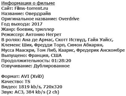 Овердрайв (2017)