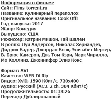 Кулинарный переполох (2017)