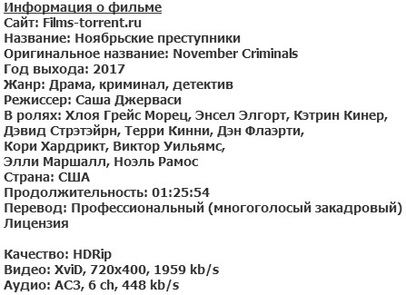 Ноябрьские преступники (2017)
