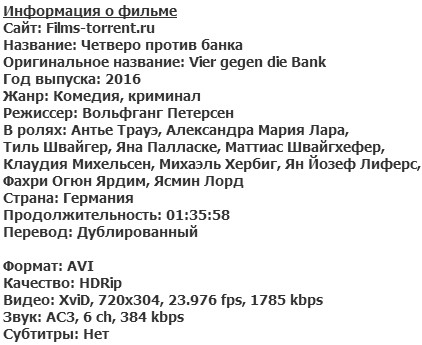 Четверо против банка (2016)