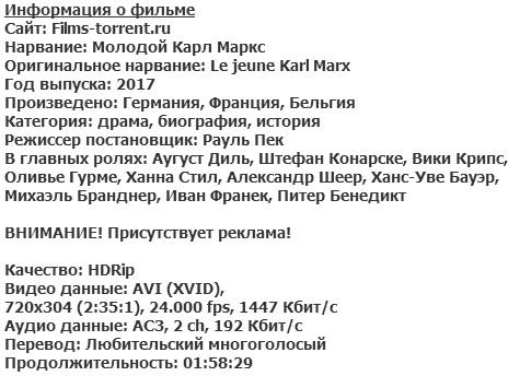 Молодой Карл Маркс (2017)