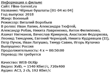 Чёрные бушлаты (2018)