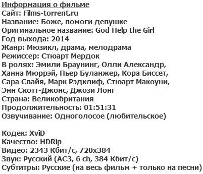 Боже, помоги девушке (2014)