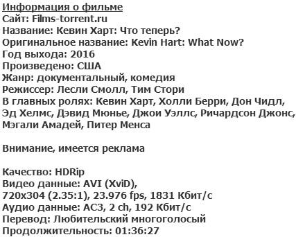 Кевин Харт: Что теперь? (2016)