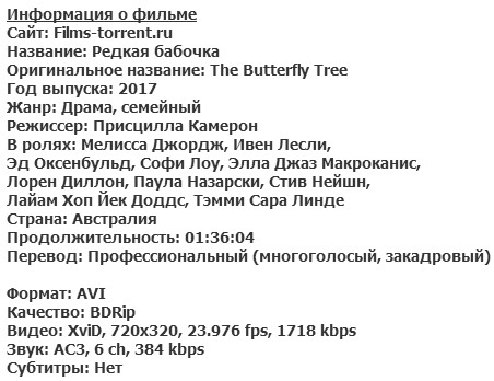 Редкая бабочка (2017)