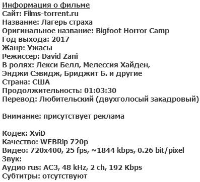 Лагерь страха (2017)