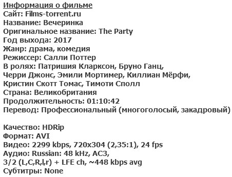 Вечеринка (2017)