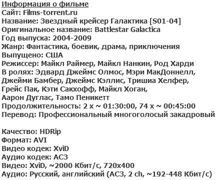Звёздный крейсер Галактика (2004 - 2009)