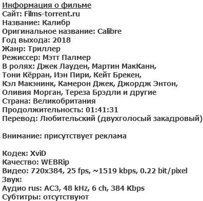 Калибр (2018)