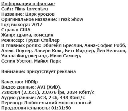 Цирк уродов (2017)