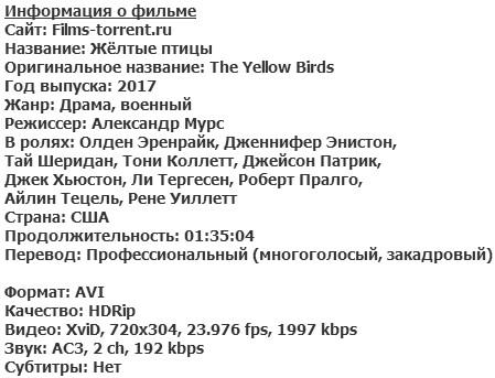Жёлтые птицы (2017)