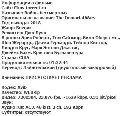 Войны бессмертных (2018)