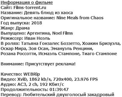 Девять блюд из хаоса (2018)
