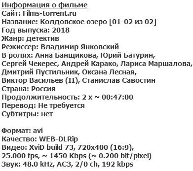 Колдовское озеро (2018)