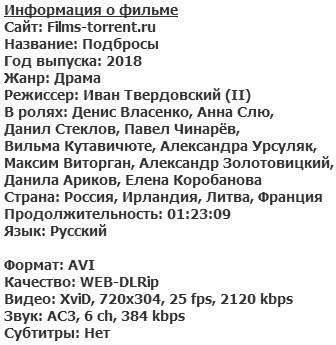 Подбросы (2018)