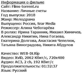 Личные счёты (2018)