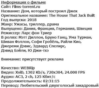 Дом, который построил Джек (2018)
