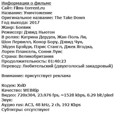 Уничтожение (2017)