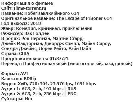 Побег заключённого 614 (2018)