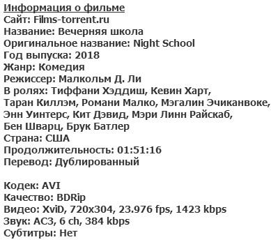 Вечерняя школа (2018)