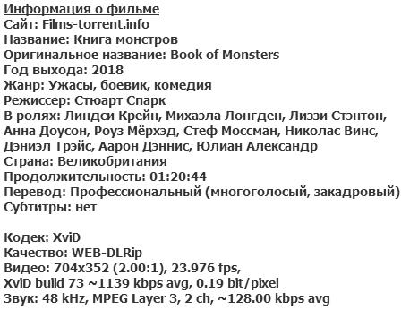 Книга монстров (2018)