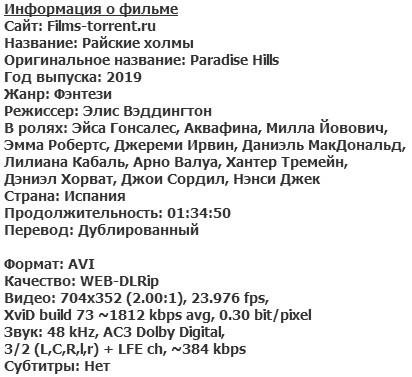 Райские холмы (2019)