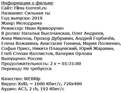 Сильная ты (2019)