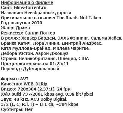 Неизбранные дороги (2020)