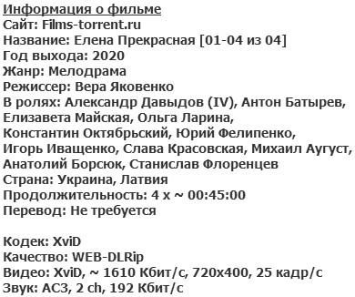 Елена Прекрасная (2020)