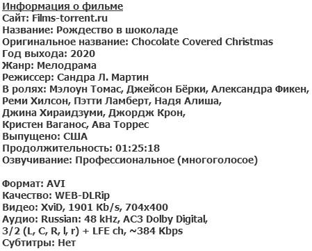 Рождество в шоколаде (2020)