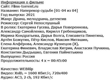 Наперекор судьбе (2021)