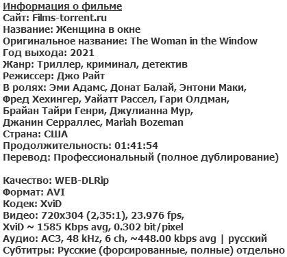Женщина в окне (2021)