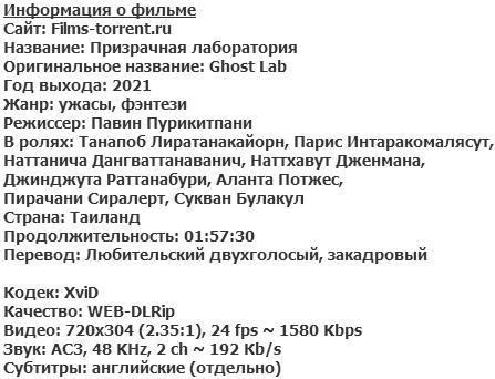 Призрачная лаборатория (2021)