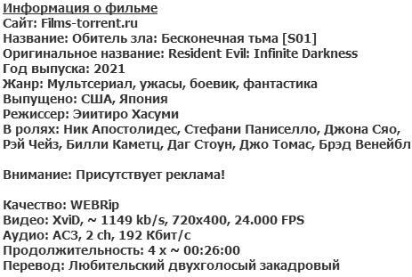Обитель зла: Бесконечная тьма (2021)