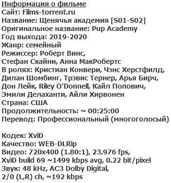 Щенячья академия Все сезоны (2019-2020)