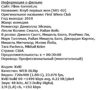 Клуб первых жен (2019)