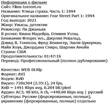 Улица страха. Часть 1: 1994 (2021)