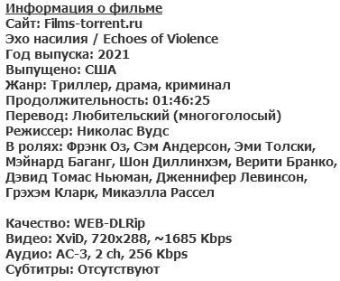 Эхо насилия (2021)