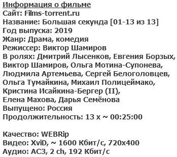 Большая секунда (2019)
