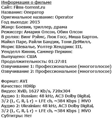 Оператор (2015)